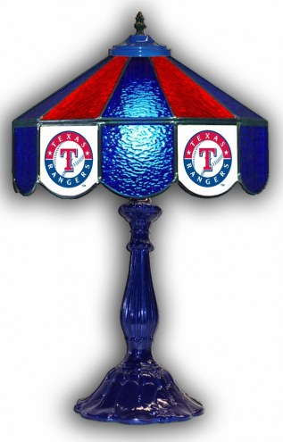 "Texas Rangers 21"" Glass Table Lamp"