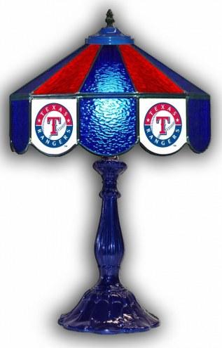 "Texas Rangers 21"" Glass Table Lamp"