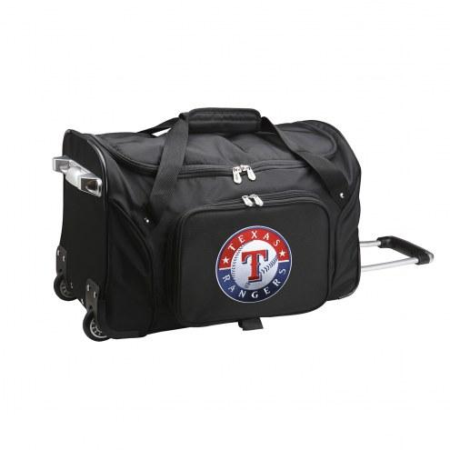 "Texas Rangers 22"" Rolling Duffle Bag"
