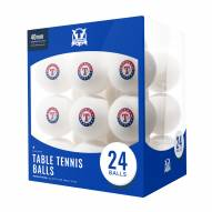 Texas Rangers 24 Count Ping Pong Balls