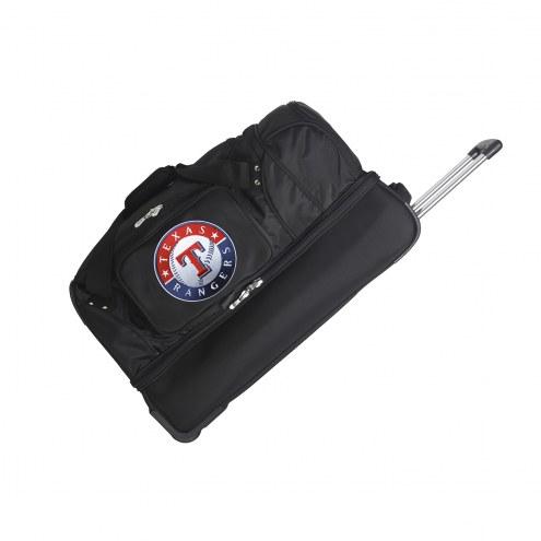 "Texas Rangers 27"" Drop Bottom Wheeled Duffle Bag"