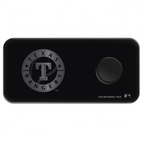 Texas Rangers 3 in 1 Glass Wireless Charge Pad