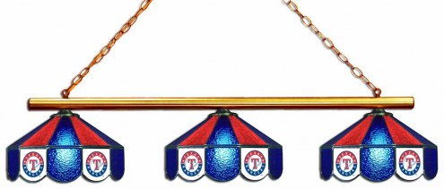 Texas Rangers 3 Shade Pool Table Light