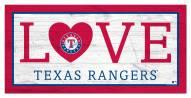 "Texas Rangers 6"" x 12"" Love Sign"