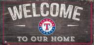 """Texas Rangers 6"""" x 12"""" Welcome Sign"""