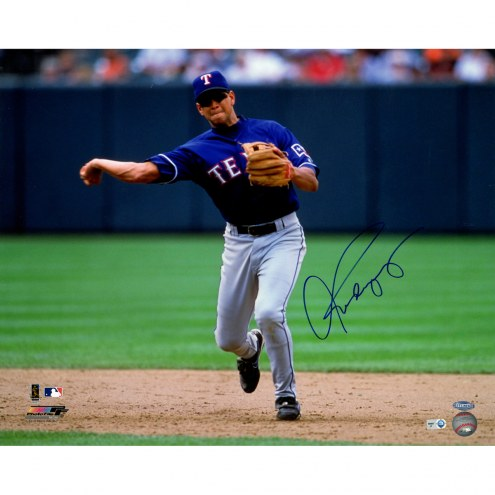 "Texas Rangers Alex Rodriguez Fielding Signed 16"" x 20"" Photo"