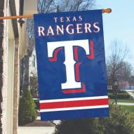 Texas Rangers Applique 2-Sided Banner Flag