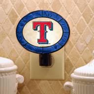 Texas Rangers Art Glass Night Light