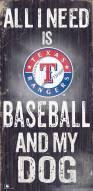 Texas Rangers Baseball & My Dog Sign