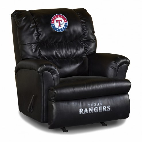 Texas Rangers Big Daddy Leather Recliner