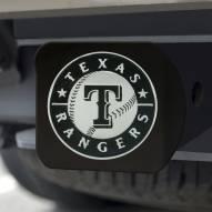 Texas Rangers Black Matte Hitch Cover