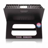 Texas Rangers Black Portable Charcoal X-Grill