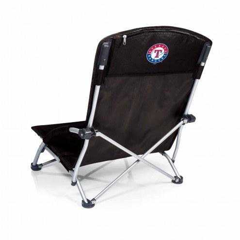 Texas Rangers Black Tranquility Beach Chair