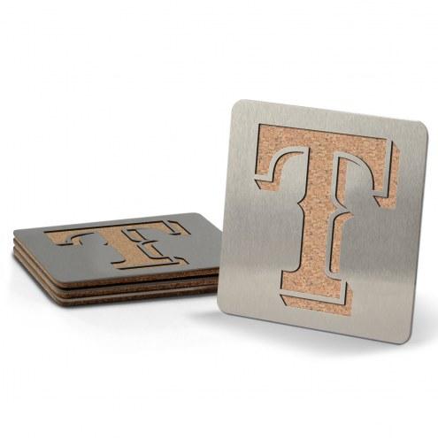 Texas Rangers Boasters Stainless Steel Coasters - Set of 4