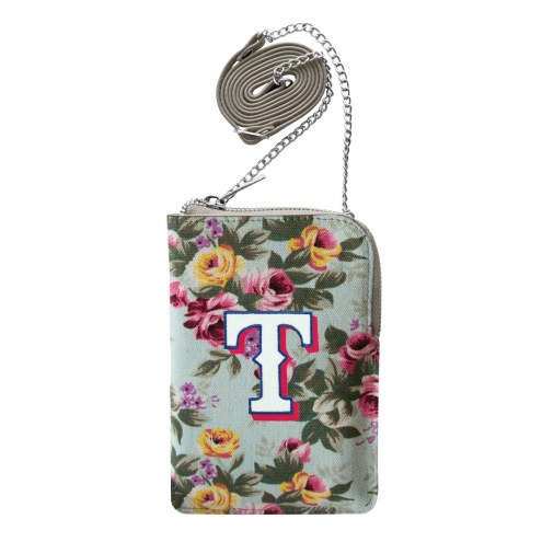 Texas Rangers Canvas Floral Smart Purse