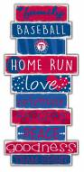 Texas Rangers Celebrations Stack Sign