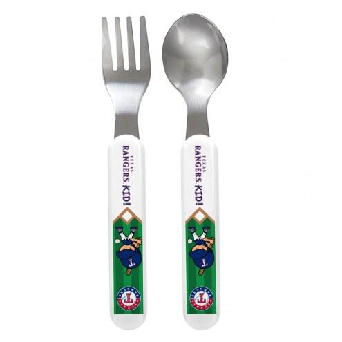 Texas Rangers Children's Fork & Spoon Set