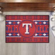 Texas Rangers Christmas Sweater Starter Rug