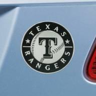Texas Rangers Chrome Metal Car Emblem