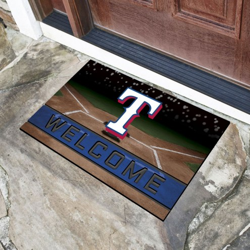 Texas Rangers Crumb Rubber Door Mat