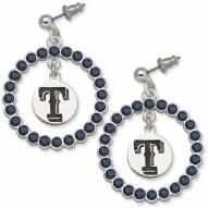 Texas Rangers Crystal Logo Wreath Earrings