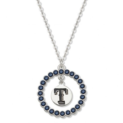 Texas Rangers Crystal Logo Wreath Necklace