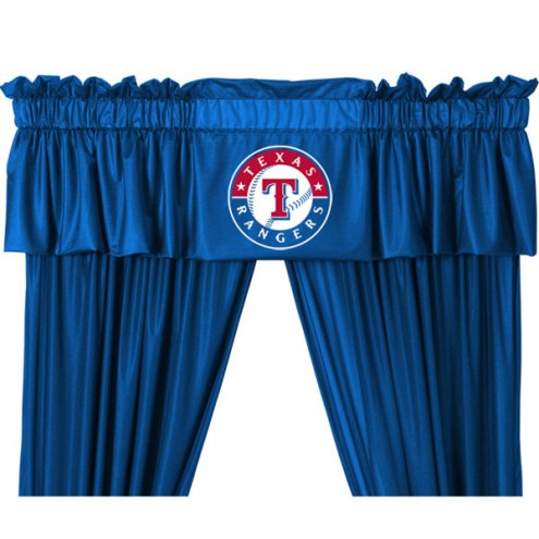 Texas Rangers Curtain Valance