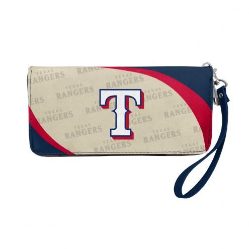 Texas Rangers Curve Zip Organizer Wallet