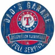 Texas Rangers Dad's Garage Sign