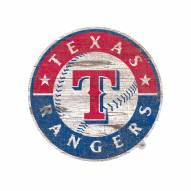 Texas Rangers Distressed Logo Cutout Sign