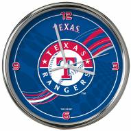 Texas Rangers Dynamic Chrome Clock