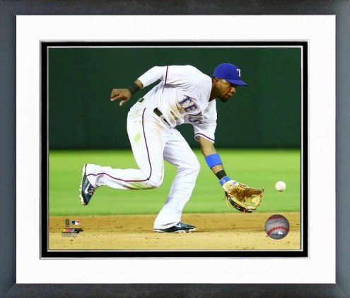 Texas Rangers Elvis Andrus Action Framed Photo