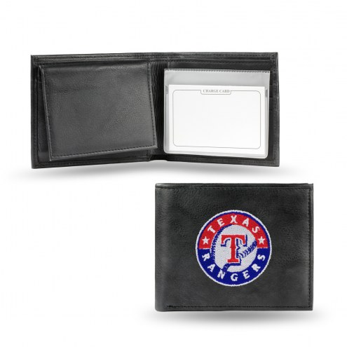 Texas Rangers Embroidered Leather Billfold Wallet