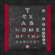 Texas Rangers Eye Chart