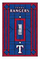 Texas Rangers Glass Single Light Switch Plate Cover