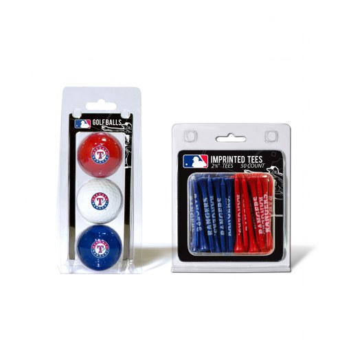 Texas Rangers Golf Ball & Tee Pack