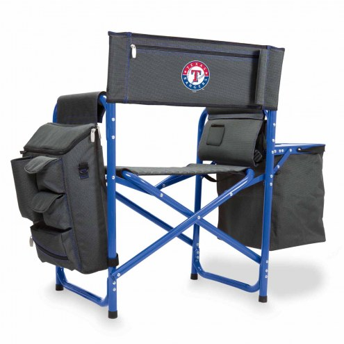 Texas Rangers Gray/Blue Fusion Folding Chair