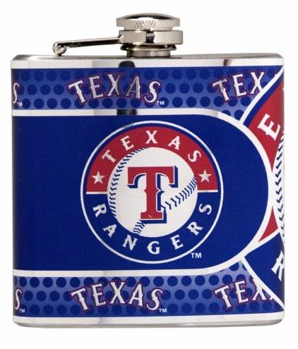 Texas Rangers Hi-Def Stainless Steel Flask