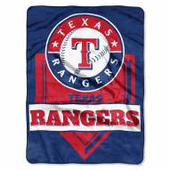 Texas Rangers Home Plate Plush Raschel Blanket
