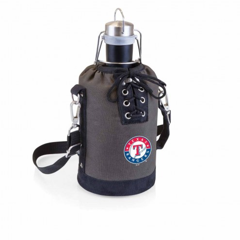 Texas Rangers Insulated Growler Tote with 64 oz. Stainless Steel Growler