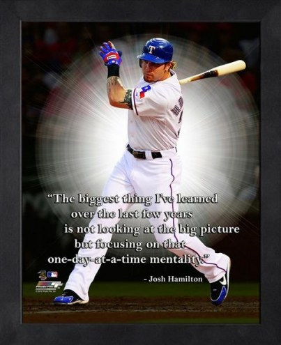Texas Rangers Josh Hamilton Framed Pro Quote