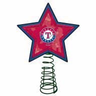 Texas Rangers Light Up Art Glass Mosaic Tree Topper