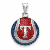 Texas Rangers Sterling Silver Baseball Pendant