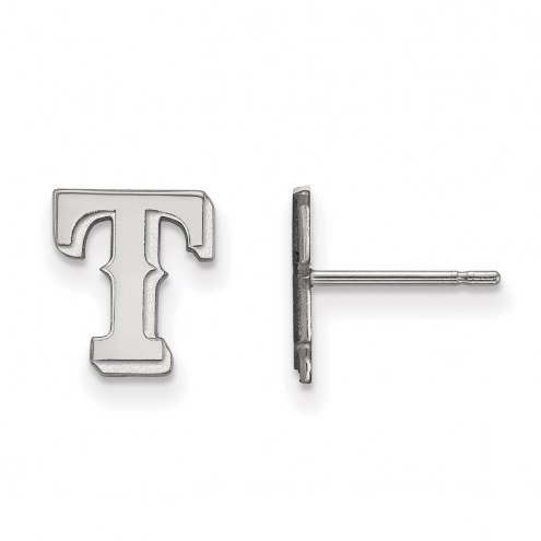 Texas Rangers Sterling Silver Extra Small Post Earrings