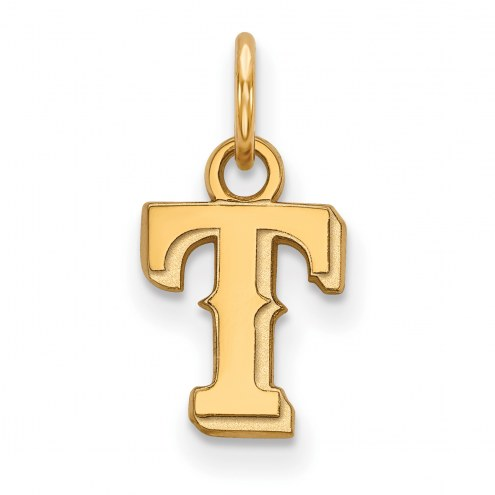 Texas Rangers Sterling Silver Gold Plated Extra Small Pendant