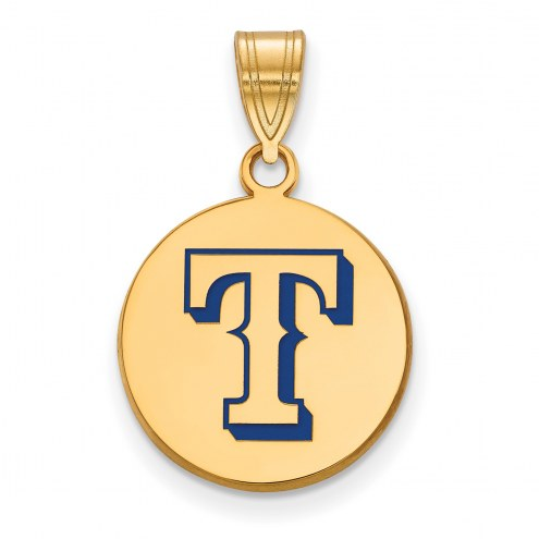 Texas Rangers Sterling Silver Gold Plated Medium Pendant