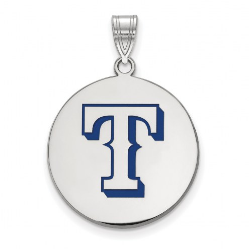 Texas Rangers Sterling Silver Large Pendant