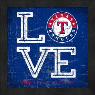 Texas Rangers Love My Team Color Wall Decor