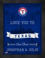 Texas Rangers Love You to and Back Framed Print