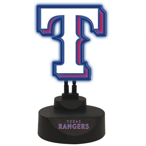 Texas Rangers Team Logo Neon Light